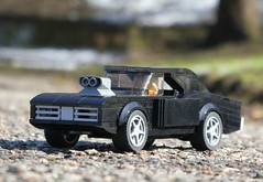 Dodge Charger (1/3) (captain_joe) Tags: toy spielzeug 365toyproject lego minifigure minifig moc car auto dodge charger