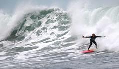 Girl Surfing (ascension9studios) Tags: surf surfing girl surfergirl action wave bells beach australia victoria coast