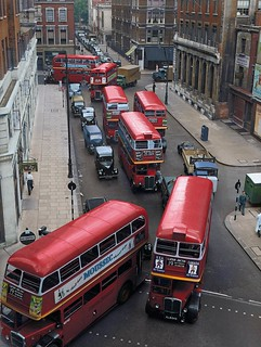 London transport RT family buses and a post war STD 1950's.