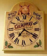 Pig Clock (bebopalieuday) Tags: clock timepiece pig acorn thomaskent greenwich culpeppers breedingpellets romannumerals