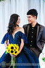 Gorgeous bride and handsome bridegroom at wedding (Hosting and Web Development) Tags: wedding bride flower yellow blue smile couple person two dress face shoulder arm hair happy hand eyes body vertical people bridegroom