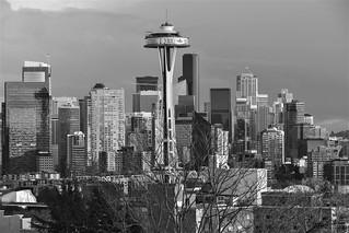 Downtown Seattle, Washington B+W