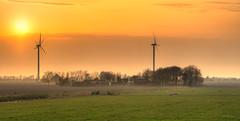 Rural sunset. (Alex-de-Haas) Tags: 85mm burgerbrug d500 dutch hdr holland nederland nederlands netherlands nikkor nikon noordholland boerenland energie energy farmland green landscape landschaft landschap lente meadows molen polder renewable spring sundown sunset turbine weiland wind windmill windturbine windmolen zonsondergang nl