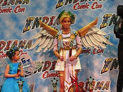 IMG_5617 (kennethkonica) Tags: indianacomiccon costumes comics people persons canonpowershot canon indiana indianapolis indy hoosier global random usa america fun pose midwest face kennethkonica eyes wingedpeople wings red children blue kid