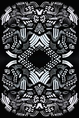 Mark-making 3 (Lindsaywhimsy) Tags: markmaking ink bw pattern abstract experimental illustration