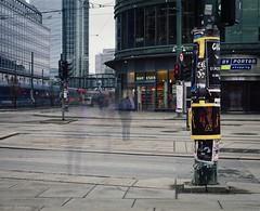 Time in motion (Geir Bakken) Tags: mamiya rb67 film analog oslo byporten longexposure city people norway fuji street