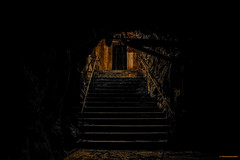 Golden stairs (MIKAEL82KARLSSON) Tags: underground underjord hc trapp stairway pipe rör ue urbanexplorer urban explore explorer utforska sverige sweden skyddsrum shelter omkrigetkommer pentax k70 bergslagen bergrum mountain sten stone mikael82karlsson decay