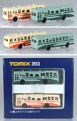 TOM-3513-Bus-Set (adrianz toyz) Tags: plastic toy model bus n gauge tomix tomica japan 3513 hino adrianztoyz