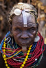 Old Nyangatom lady - Ethiopia (Steven Goethals) Tags: ethiopia ethiopie ethiopië etiopia tribe tribal portrait girl ethnic nice beautiful ethnology ethnique culture tradition tribo face tribes visage travel human explore east africa people peoples adventure black skin afrique de lest valley goethals steven lokatepan nyangatom necklace westomo colorful kangate fuji fujifilm xseries xt2 xf56