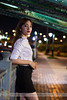 Under bridge (Hosting and Web Development) Tags: bridge river riverside night lights bridgehead pavement bokeh under baluster portrait road vertical stand one young sidewalk person eyes femininity female woman beautiful