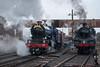 6023 and 80072 (Jed Bennett) Tags: svr spring gala severnvalleyrailway worcestershire steam engine train 6023 king edward ii 2 gwr class 80072 br standard tank kidderminster