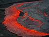 The Expanding Lava Front (Fotografie mit Seele) Tags: ertaale danakildepression afar triangle volcano vulkan äthiopien ethiopia lava eruption red smoke liquid crust kruste pahoehoe
