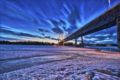 Kolbäcksbron V (johan.bergenstrahle) Tags: 2018 evening kolbäcksbron kväll landscape landskap march mars river sverige sweden umeriver umeälv umeå vinter winter älv