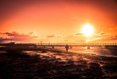 Sunset in sand storrm (Maria Eklind) Tags: ribban beach malmö strand ribersborgsstranden kanal city water öreund weather sweden winter skånelän sverige se