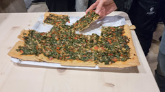 Mallorquin veggie pizza with spinach (marcoverch) Tags: peguera illesbalears spanien es mallorquin veggie pizza spinach food lebensmittel grow wachsen herb kraut noperson keineperson vegetable gemüse people menschen adult erwachsene pepper pfeffer cooking kochen meal mahlzeit kitchenware geschirr mouthwatering schmackhaft medicine medizin one ein rootvegetable wurzelgemüse fruit obst group gruppe two zwei cutlery besteck spice würzen brown plants restaurant nyc blur neige flickr selfie bus station