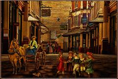 past times (sw2018) Tags: vintage old street horse people cobbles children building road flickrelite