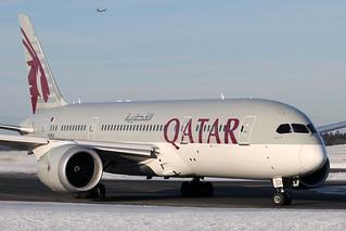 Qatar Airways B787-8 A7-BCU Oslo-Gardermoen