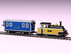 Redvers Mail (Sweater's Desk) Tags: ldd studio render lego rail narrow gauge