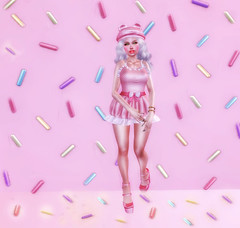 LaLa-She Gives Me A Toothache (Brooklyn MacIntyre) Tags: kawaii sprinkles innocent events fashion free freebies gifts secret hideout we 3 adored fantasy cutie store okkbye phedora pjs second life hump muffin sl cute avatar girl clothes blog glitter truth chubby catwa catya babygirl