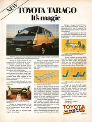 1983 Toyota Tarago Van People Mover Aussie Original Magazine Advertisement (Darren Marlow) Tags: 1 3 8 9 19 83 1983 t toyota tarago v van p people m mover w wagon c car collectible collectors classic cool a automobile vehicle j jap japsn japanese 80s