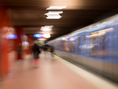 subway station (tseehaus) Tags: subway station night icm intentionalcameramovement longtimeexposure munic