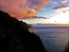 Napali Coast (colourvein) Tags: napali coast kauai hawaii water trees ocean pacific clouds dusk sky
