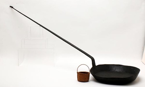 Hand-Forged Long-Handled Hearth Skillet, Signed ($308.00)