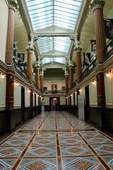 Down the Hall (Read2me) Tags: pree cye washingtondc nationalportraitgallery building architecture hall interior vanishingpoint ceiling thechallengefactorywinner tcfunanimousmarch ge smithsonian