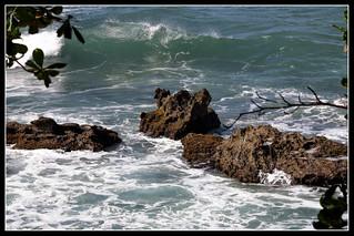 Rocks and the sea