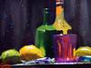 """Soda et citrons #2 (andremehu) Tags: gouache painting stilllifepainting stillleben bodegon naturemorte fruit"