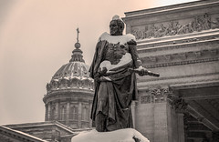 Black & White_ (Tony_Brasier) Tags: buildings blackwhite icecold outdoors nikond7200 1750mm sigma snow sky saintpetersburg statues snowing russia raw flickr sun