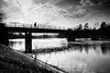 on a sunday afternoon (René Mollet) Tags: riverside renémollet river aare afternoon bridge blackandwhite bw backlight street streetphotography silhouette streetart streetphotographiebw