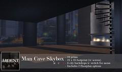 Ardent - Man Cave Skybox (Broderick Logan) Tags: secondlife second life sl avatar virtual vr 3d inworld home house penthouse loft apartment skybox modern minimalist man cave mancave ardent