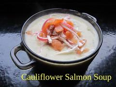Cauliflower Salmon Soup (nadjadejong) Tags: food cooking cooked dinner soup homemade cauliflower salmon surimi fish