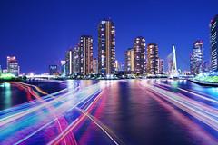 Tokyo Waterfront (fukasawa.takahiro) Tags: tokyo japan night nightview nightscape water waterfront river skyscraper skyline