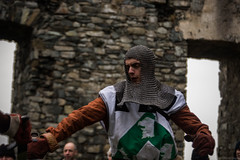 Owain yr Eryr Wen (Coed Celyn Photography) Tags: medieval reenactment harlech snowdonia north wales knight knights castle castell cadw history historic historical living larp battle armour armor fighting fight weapon weaponry weapons costume clothing outfit sir chainmail sword swords shield glave helmet