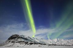 Light banner (georgemoga) Tags: aurora auroraborealis iceland mountain night northernlights sky snow stars easternregion is