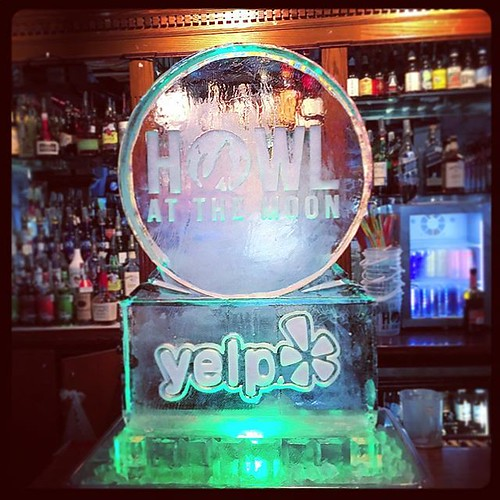 Howl at the #icesculpture  Ooo!! @howlsatx @yelpsanantonio #fullspectrumice #thinkoutsidetheblocks #logo #branding #brrriliant - Full Spectrum Ice Sculpture