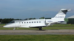 N280GL (AnDyMHoLdEn) Tags: gulfstream egcc airport manchester manchesterairport 23l