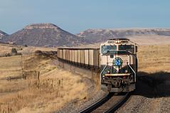 Nice Nose on the Palmer Divide (Jake Branson) Tags: train railroad locomotive bnsf colorado co joint line coal palmer divide mountain emd sd70mac burlington northern bn executive grinstein