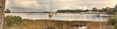 Macquarie harbour autumn (taszee63) Tags: tasmania westcoast strahan macquarie harbour hdr 3xp panorama water yacht 70mm