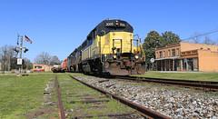 5/8th of the roster (GLC 392) Tags: bowersville 136 rfp emd gp35 american flag ga georgia build down town hrt hartwell railroad gp40 gp382 gp38 sd38 654 3000 1973 5130 railway train eje ns conrail
