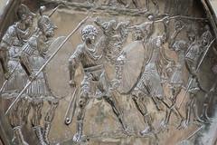 David fights Goliath (Nick in exsilio) Tags: newyork unitedstates us david goliath battle sling shield oldtestament bible byzantine silver roman dish plate