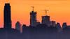 Edmonton's Changing Skyline (WherezJeff) Tags: 2018 edmonton sunrise cityscape skyline alberta canada cranes towers skyscrapers silhouette 20102019 civiltwilight d850