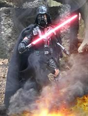 Battle damaged Vader (chevy2who) Tags: starwarscustom wars star starwars customblackseries custom customvader vader darth figure action series black toyphotography toy
