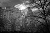 Apartment Building on Central Park West (Eric Gross) Tags: newyork centralparkwest bw manhattan monotone centralpark