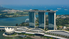 Marina Bay Sands complex in Singapore (phuong.sg@gmail.com) Tags: aerial architectural architecture asia building casino city cityscape day daytime horizontal horizontalformat hotel landmark marinabay marinabaysands modern outdoor outside panorama panoramic reflection reflective resort river riverside scenery singapore singaporeriver skyline skyscraper towers urbanlandscape urbanskyline water waterfront