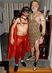 DSCN3622 (danimaniacs) Tags: halloween party costume shirtless man guy mask hot sexy beard scruff smile bulge tarzan