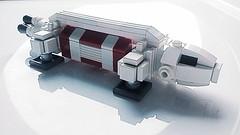 Micro Eagle Transporter - Rescue (lafabrick) Tags: cosmos 1999 lego eagle transporter