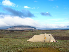 * (~janne) Tags: kamera e520 europa himmel island berge kjalvegur wolken zelt natur umwelt icland camp camping clouds environment europe olympus sky tent